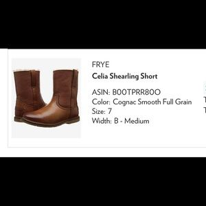 Frye Celia leather boots